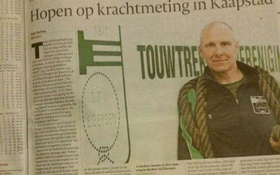 Mooi stukje in de krant.  #touwtrekken  #tctubantia