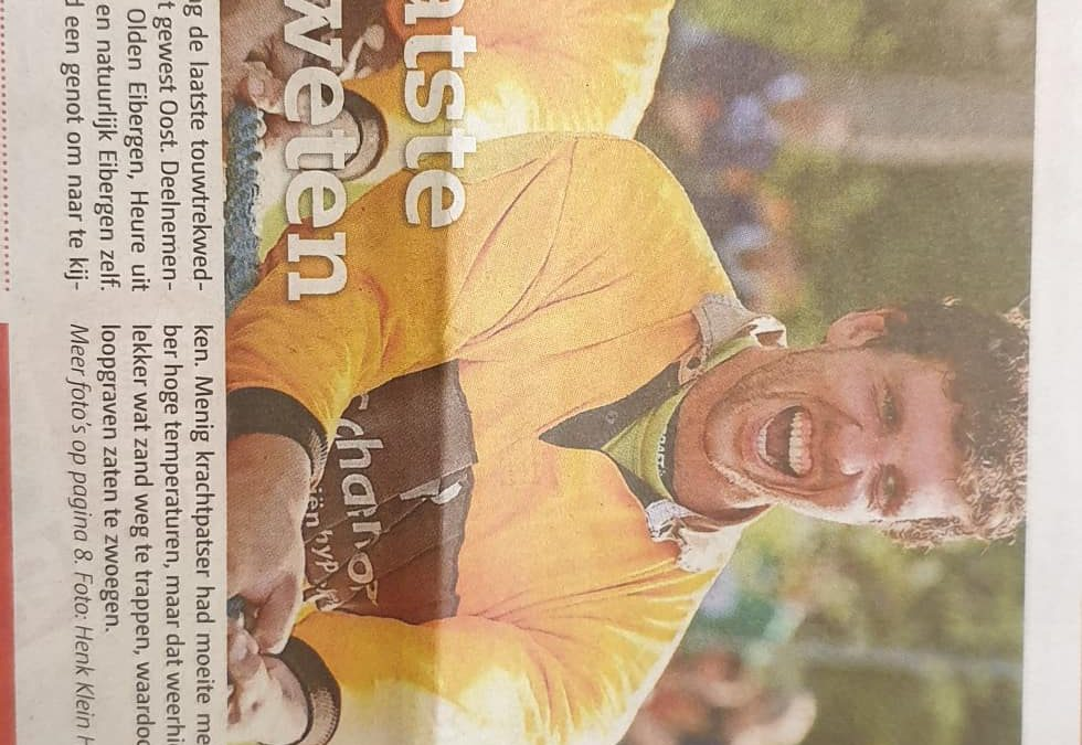 Vandaag weer mooie foto's in de krant.