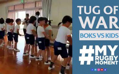 Kijk Springboks vs 30 Japanese school children   #MyRugbyMoment
