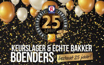 Ook via deze weg willen wij Boenders feliciteren met het jubileum.