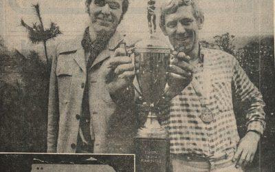 Twee helden uit de touwtrekkersgeschiedenis van Eibergen met de Europacup, Benni…